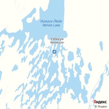 Карта Webequie