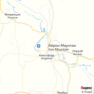 Карта Айрона-Маунтина