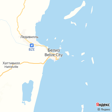Карта Белиза-Сити