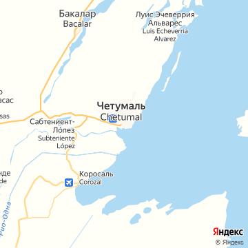Карта Четумала