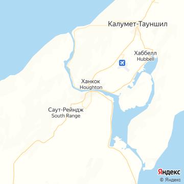 Карта Хауфтона