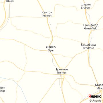 Карта Трентона