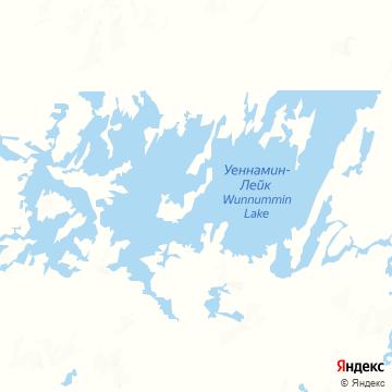 Карта Wunnummin Lake