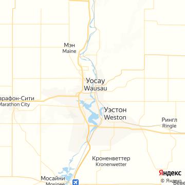 Карта Ваусау
