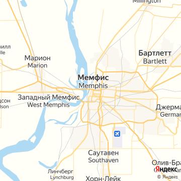 Карта Мемфиса