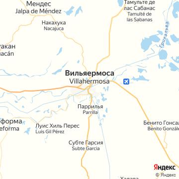 Карта Вильяхермозов