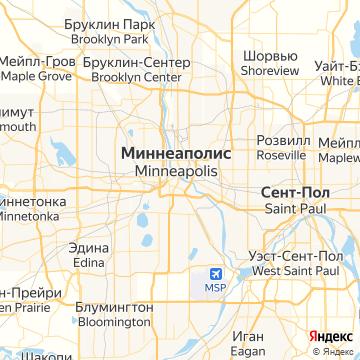 Карта Миннеаполиса
