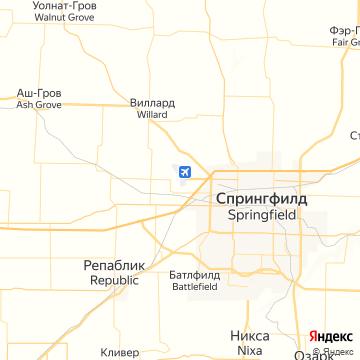 Карта Спрингфилда