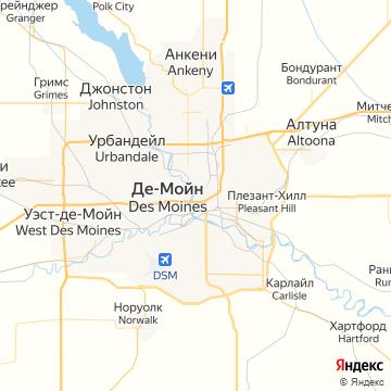 Карта Де-Мойна