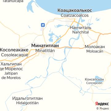 Карта Минатитлана