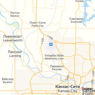 Карта Канзас-Сити