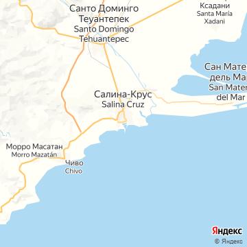 Карта Салиной-Крус