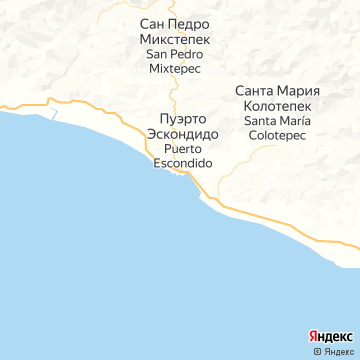 Карта Пуэрто-Эскондидо