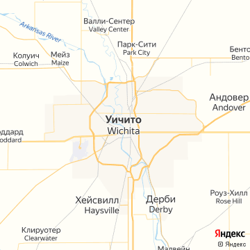 Карта Вичиты