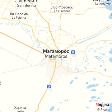 Карта Браунсвилля