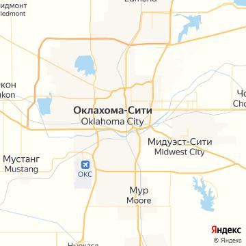 Карта Оклахомы-Сити