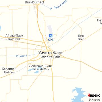 Карта Вичиты-Фоллза