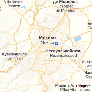 Карта Мехико