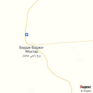 Карта Bordj Баджи Мохтар