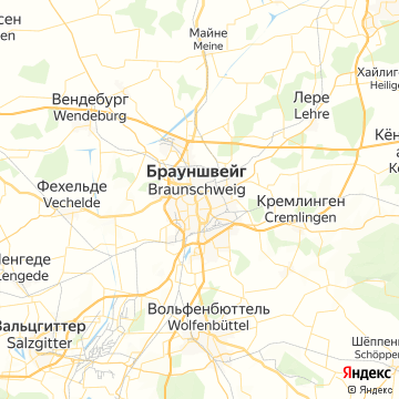 Карта Брауншвейга