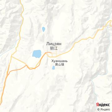 Карта Лицзяна