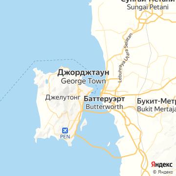 Карта Пенанга