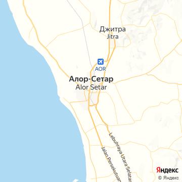 Карта Алора-Сетара