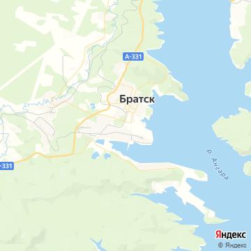 Карта Братска