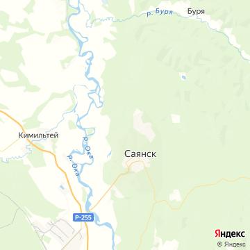 Карта Саянска