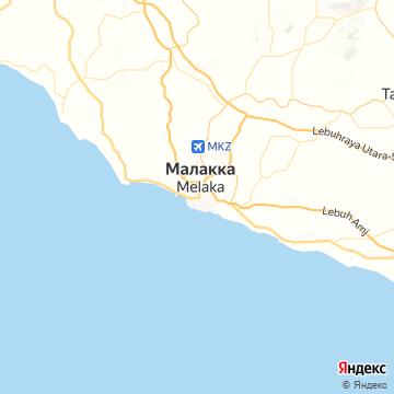 Карта Малакки