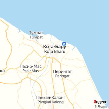 Карта Коты-Бару