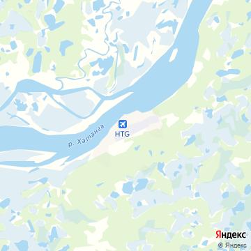Карта Хатанги