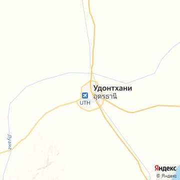 Карта Удона-Тхани