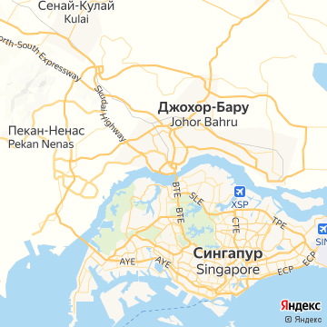 Карта Джохора-Бару