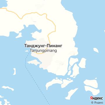 Карта Танджунга Пинанг