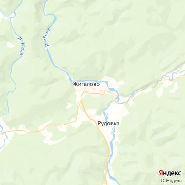 Карта Жигалово