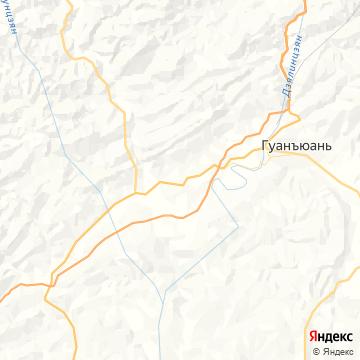 Карта Гуаньюаня