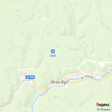 Карта Усть-Кута
