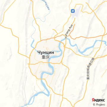 Карта Чунцина