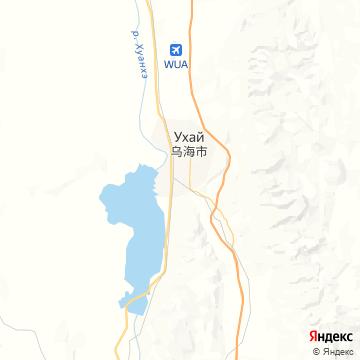 Карта Wuhai