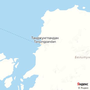 Карта Таньюнга-Пендана