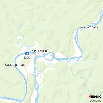 Карта Киренск