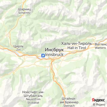 Карта Инсбрука