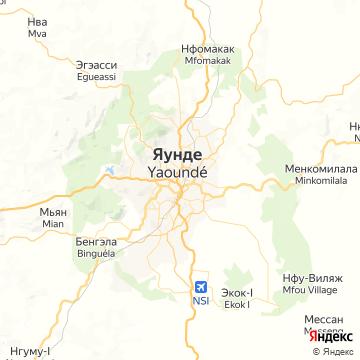 Карта Яунде