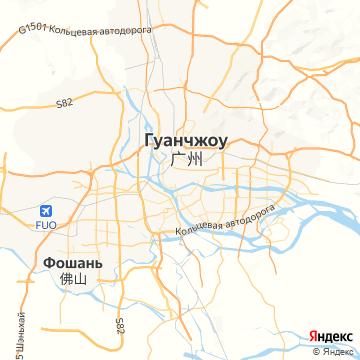 Карта Гуанчжоу