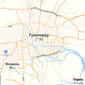 Карта Фушань