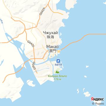 Карта Макао