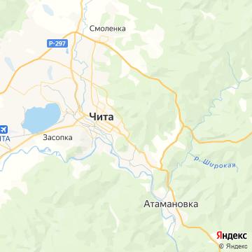 Карта Читы