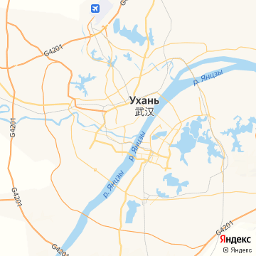 Карта Вухана