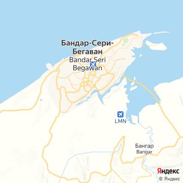 Карта Бандара-Серей-Багавана